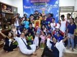 Bergembira dan menghibur di Yayasan Peduli Kangker Anak Indonesia Surabaya